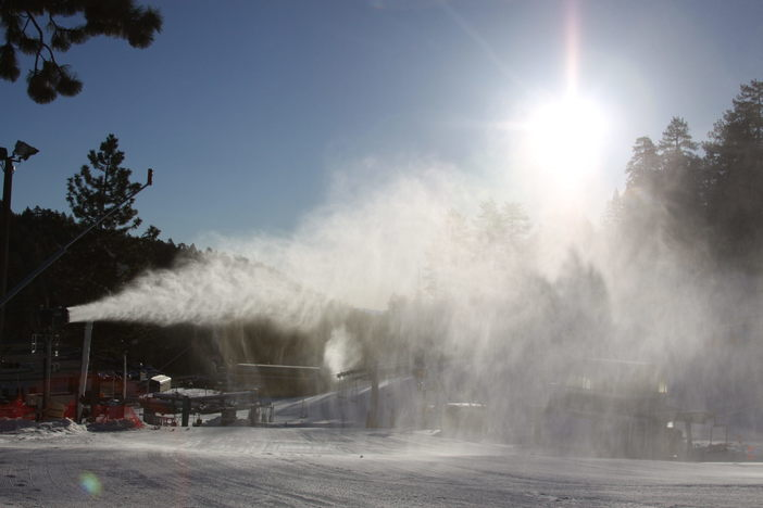 Snowmaking continued for an amazing 8th night in a row!