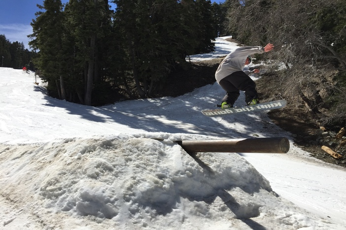 Boosting over the cannon bonk.
