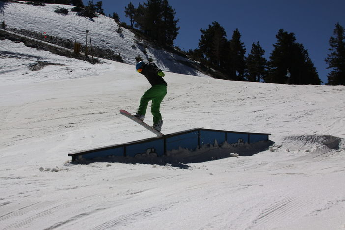 Learning new tricks on the fun soft snow.