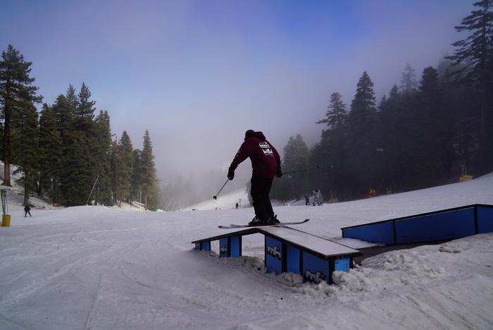Ski slide on the Active stair set