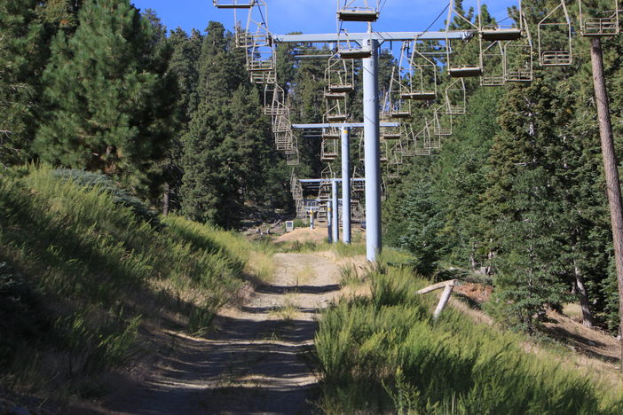 The log drop under lifts 1 & 2 is ready for winter. Are you?