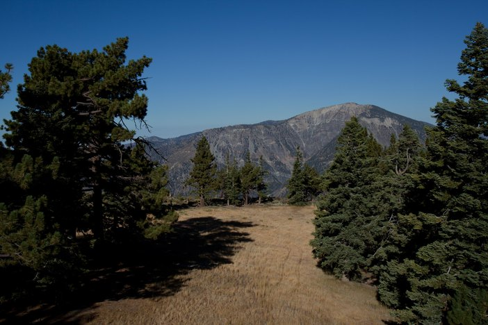 View of Mt. Baden Powell from the top of our East Resort.