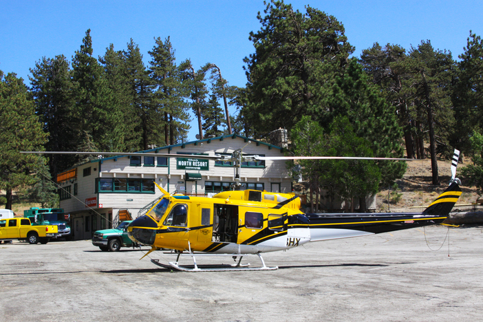 Our North Resort is currently being used as a heli pad. Thank you to everyone who fought the Blue Cut Fire.