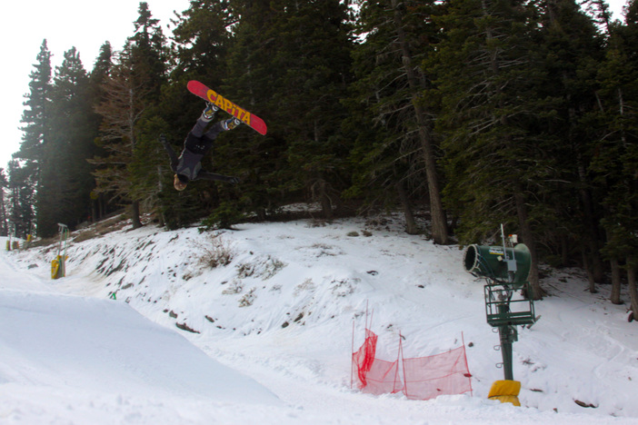 Getting inverted on the booter.