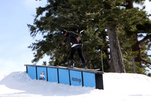Frontside Boardslide at the top of Chisolm.