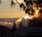 Beautiful sunrise over the West Resort.