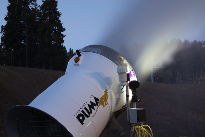 This snowmaking test brought to you by Puma