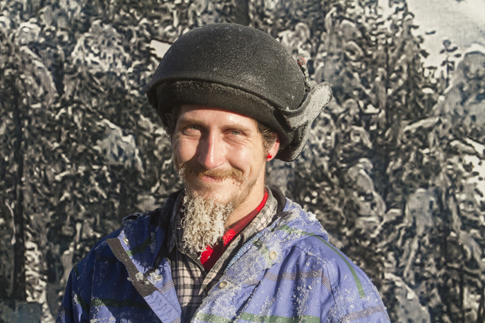 Snowmakers suffering from a case of snow beard.