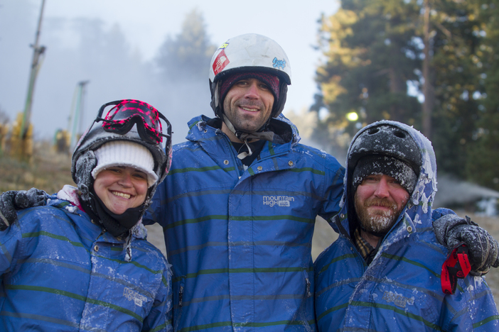 Snowmakers excited for the start of winter.
