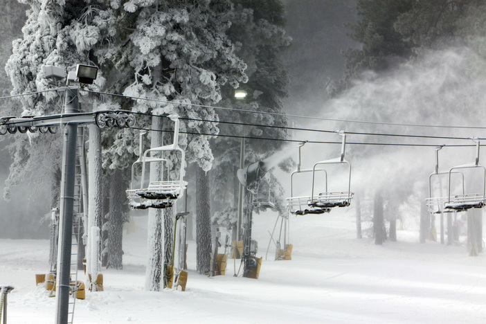 Early morning snowmaking is the perfect start to our day.